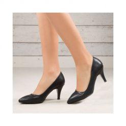 İnce Siyah Topuklu Ayakkabı