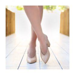 Ten Rengi Kalın Topuklu Ayakkabı