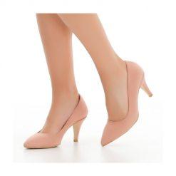 Pudra İnce Topuklu Ayakkabı