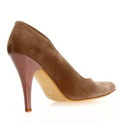 Vizon Süet Stiletto Ayakkabı