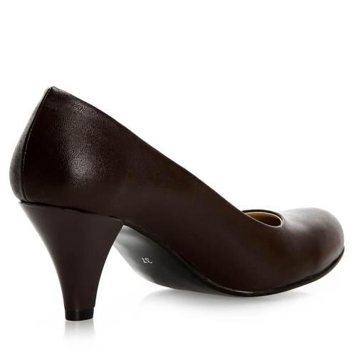 Kahve Rengi Kısa Topuklu Ayakkabı