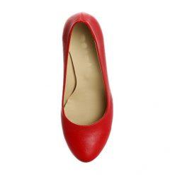 Kırmızı Kısa Topuklu Ayakkabı