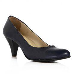 Lacivert Kısa Topuklu Ayakkabı