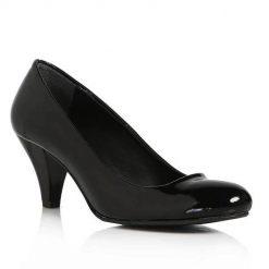 Siyah Kısa Kalın Topuklu Ayakkabı