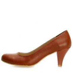 Taba Rengi Topuklu Ayakkabı