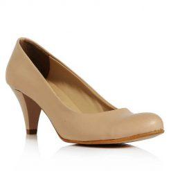 Ten Rengi Kısa Topuklu Ayakkabı