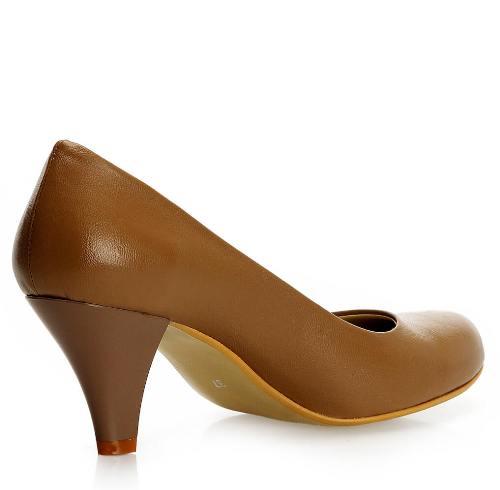 Vizon Rengi Topuklu Ayakkabı