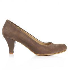 Vizon Süet Kısa Topuklu Ayakkabı