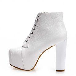 Beyaz Topuklu Bot