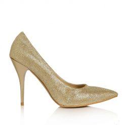 Altın Rengi Topuklu Ayakkabı