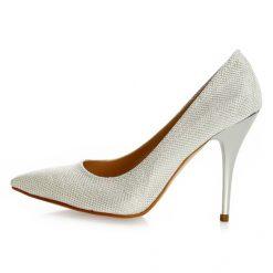 Sedef Rengi Topuklu Ayakkabı