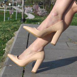 Bordo Yüksek Topuklu Ayakkabı Süet Ma-023