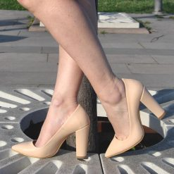 Ten Yüksek Topuklu Ayakkabı Deri Ma-023