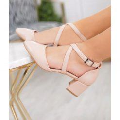 Ten Çapraz Bantlı Ayakkabı Topuklu Deri