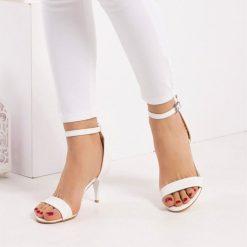 Beyaz İnce Topuklu Ayakkabı Ra-085
