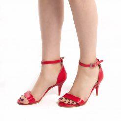 Kırmızı İnce Topuklu Ayakkabı Ra-085