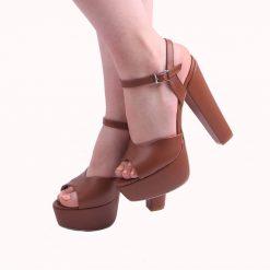 Taba Platformlu Abiye Ayakkabı Kadın Sade Ra-027