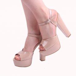 Ten Abiye Topuklu Ayakkabı Rugan Ra-027