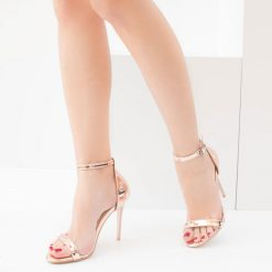 Rose İnce Bantlı Topuklu Ayakkabı Ra-086