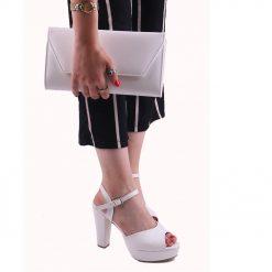 Beyaz Ayakkabı Çanta Kombin Deri RC-027