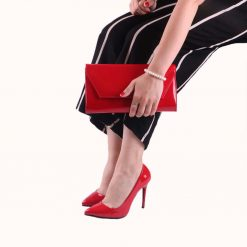 Kırmızı Rugan Ayakkabı Çanta Takım RC-021