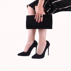 Siyah Süet Ayakkabı Çanta Takım RC-021