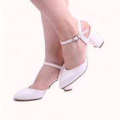 Beyaz Kısa Topuklu Ayakkabı Ra-145