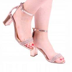 Rose Bilek Bağlamalı Topuklu Ayakkabı Tek Bant Ra-137