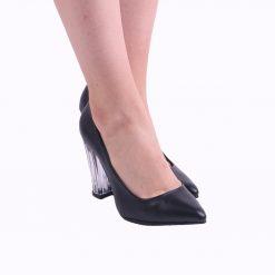 Siyah Şeffaf Topuklu Stiletto Ra-140